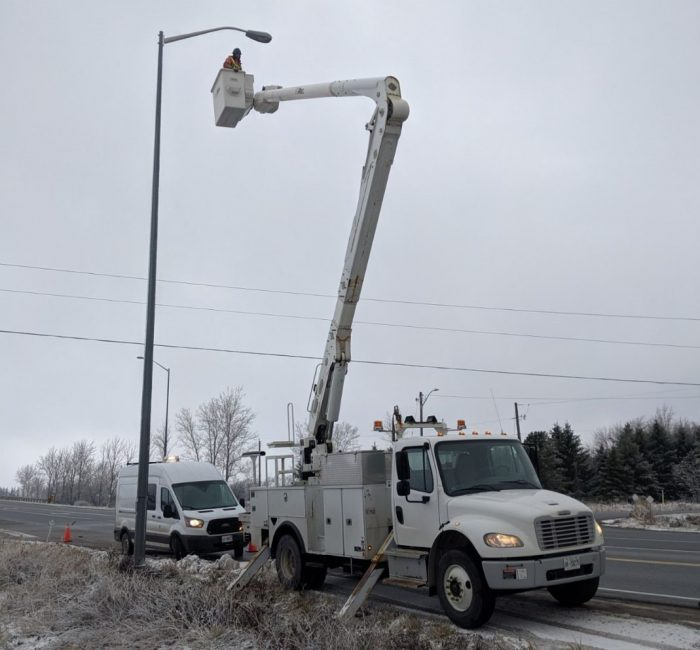 High reach lighting repair
